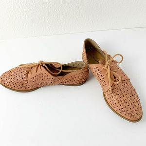 Lucky Brand Womens Shoes Size 7.5 Leather Lace up